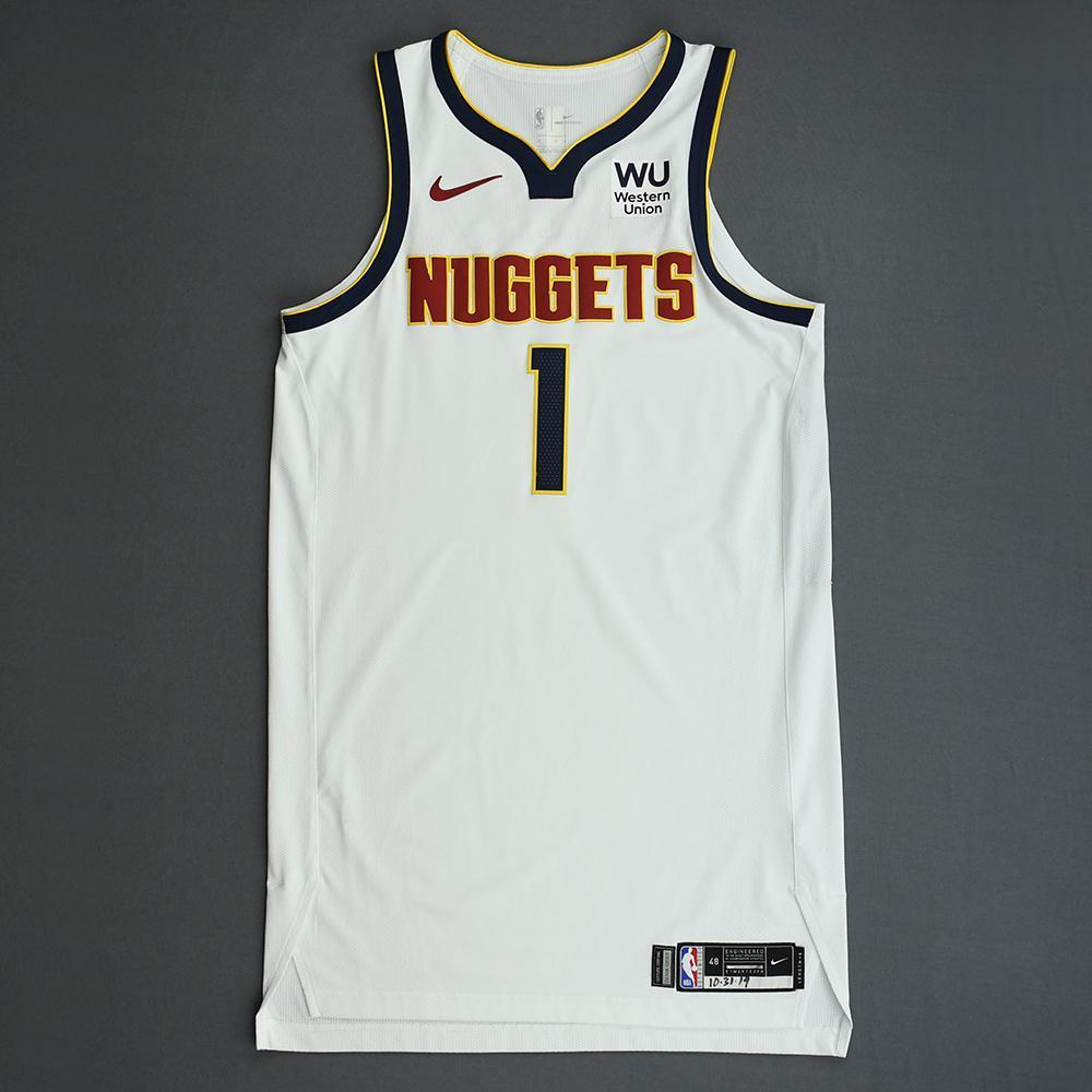 Michael Porter Jr. - Denver Nuggets - Game-Worn Association Edition Rookie Debut Jersey - Scored Team-High 15 Points - 2019-20 Season