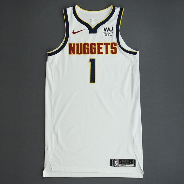 Image of Michael Porter Jr. - Denver Nuggets - Game-Worn Association Edition Rookie Debut Jersey - Scored Team-High 15 Points - 2019-20 Season