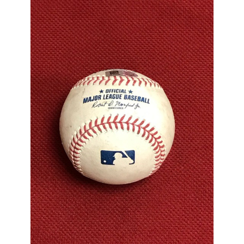 Photo of 8/1/20 Game-Used Baseball, Los Angeles Dodgers at Arizona Diamondbacks: Luke Weaver vs. Joc Pederson (Struck Out Swinging)