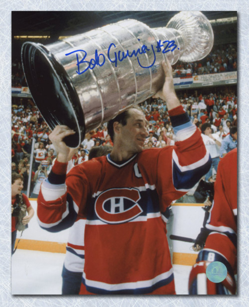Bob Gainey Montreal Canadiens Autographed Stanley Cup 8x10 Photo