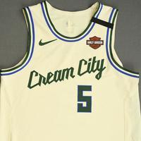 D.J. Wilson - Milwaukee Bucks - Game-Worn City Edition Jersey - Dressed, Did Not Play - 2019-20 NBA Season