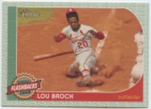 Photo of 2017 Topps Heritage Baseball Flashbacks #BFLB Lou Brock