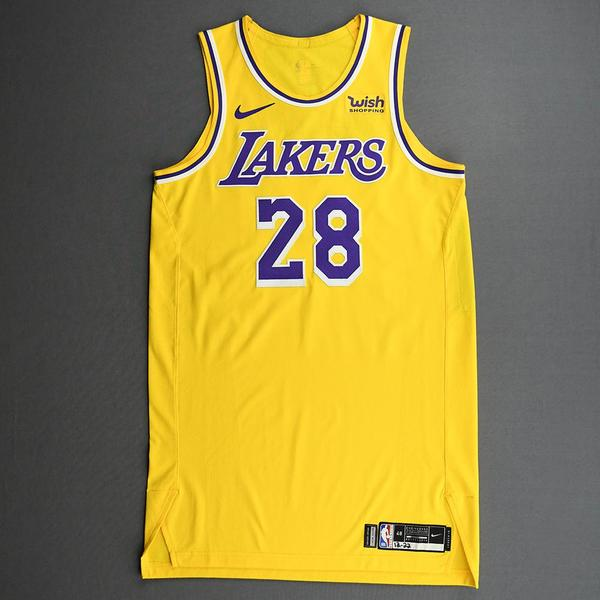 Image of Alfonzo McKinnie - Los Angeles Lakers - Kia NBA Tip-Off 2020 - Game-Worn Icon Edition Jersey - Dressed, Did Not Play (DNP)