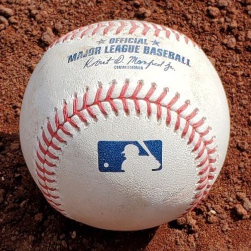 Photo of 2021 Phillies Game-Used Baseball - Yadier Molina Double (T-career high 10 total bases in single game) - STL at PHI - 4/17/2021