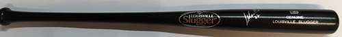 Photo of Leonys Martin Autographed Black Louisville Slugger Bat