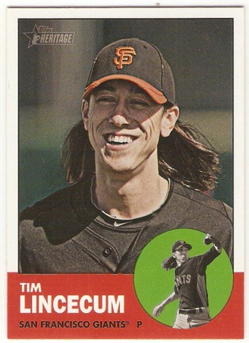 Photo of 2012 Topps Heritage #106A Tim Lincecum
