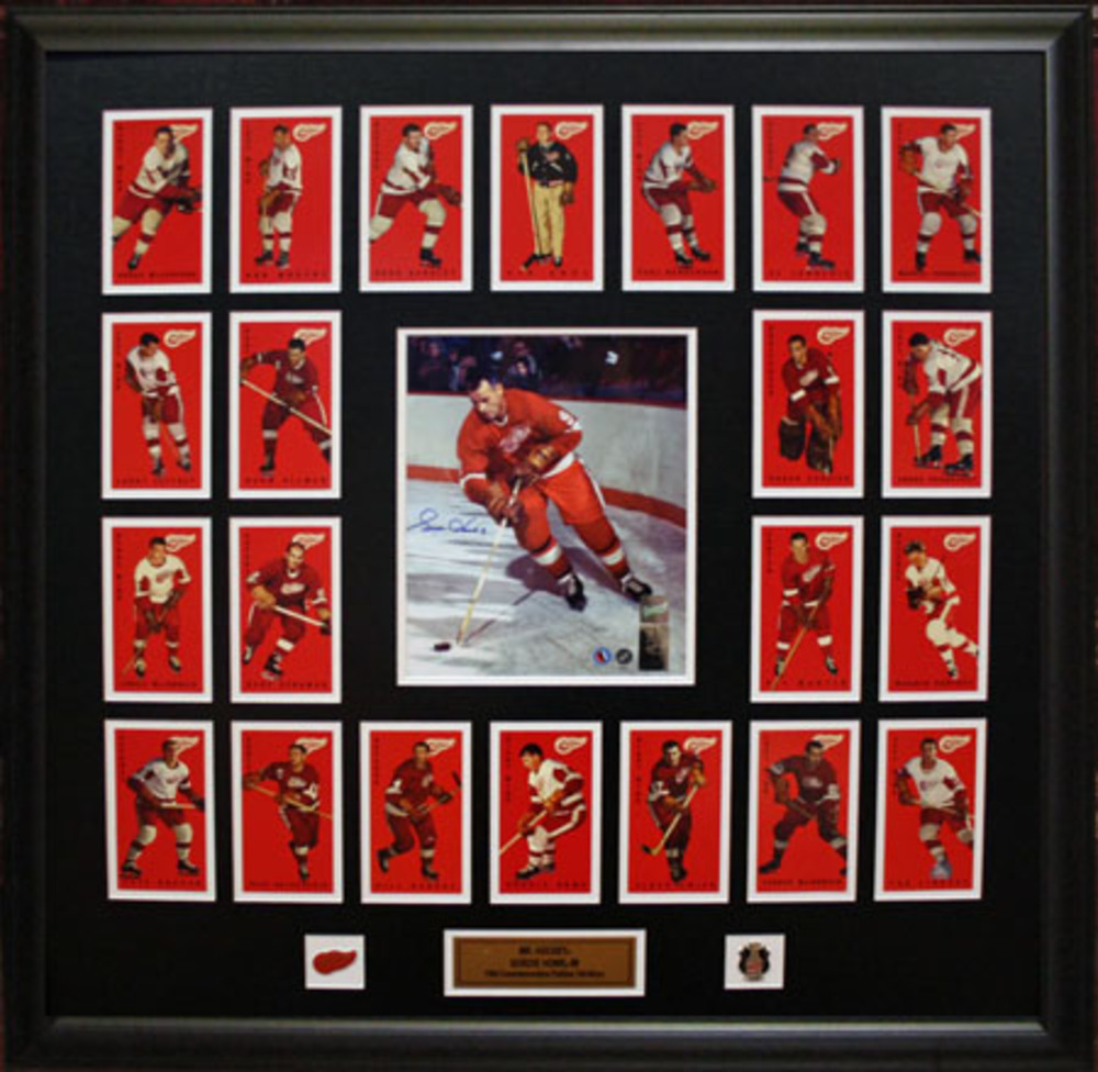 Howe Signed 8x10 CARDS/PL Red Wings