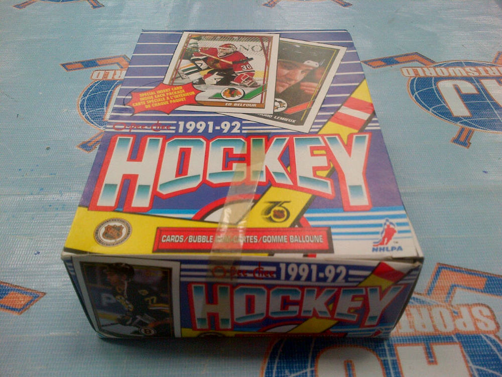 Box of 1991-92 OPC Hockey Cards *36 UNOPENED PACKS*