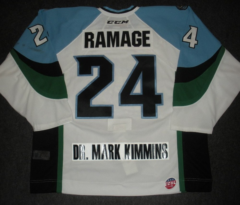 John Ramage - 2014 Kelly Cup Finals - Alaska Aces - White Game-Worn Jersey - Games 1 & 2