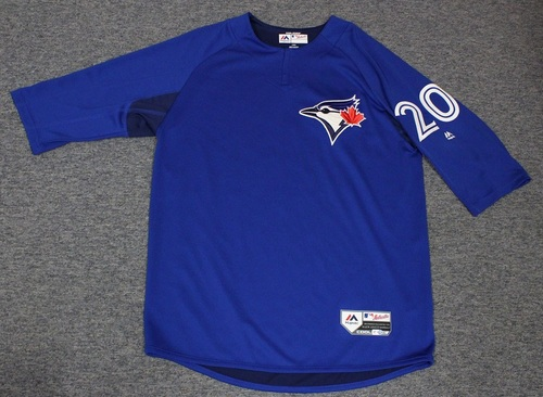 Photo of Authenticated Team Issued Batting Practice Jersey - #20 Josh Donaldson. Size L.