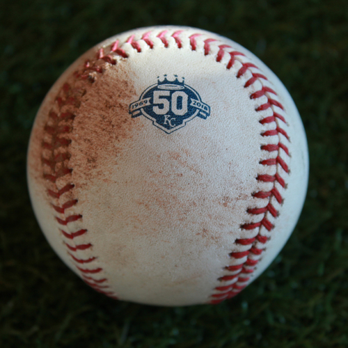 Game-Used Baseball: Teoscar Hernansez 139th Career Hit (TOR @ KC - 8/15/18)