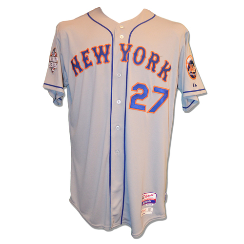 Photo of Jeurys Familia #27 - Team Issued Road Grey Jersey - 2015 World Series