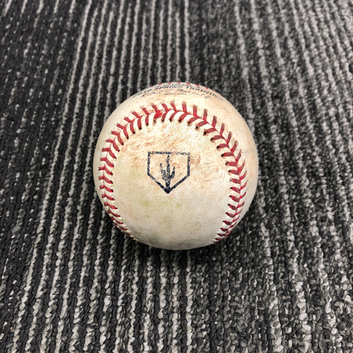 Photo of 2019 Spring Training Game Used Baseball vs. Chicago White Sox - T-3: Drew Pomeranz to Welington Castillo - Foul to the Screen