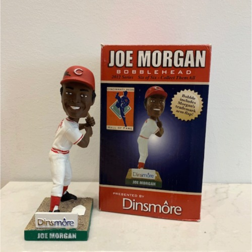 Photo of Joe Morgan Autographed Reds Hall of Fame Bobblehead