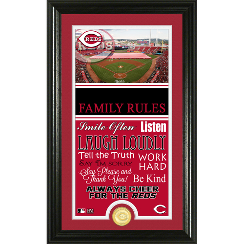 Photo of Cincinnati Reds Personalized Family Rules Photo Mint