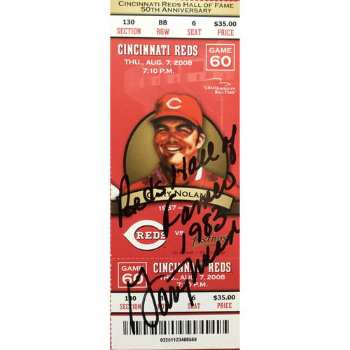Photo of Gary Nolan Signed Ticket