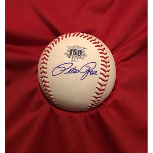 Photo of Pete Rose Autographed 150 Baseball
