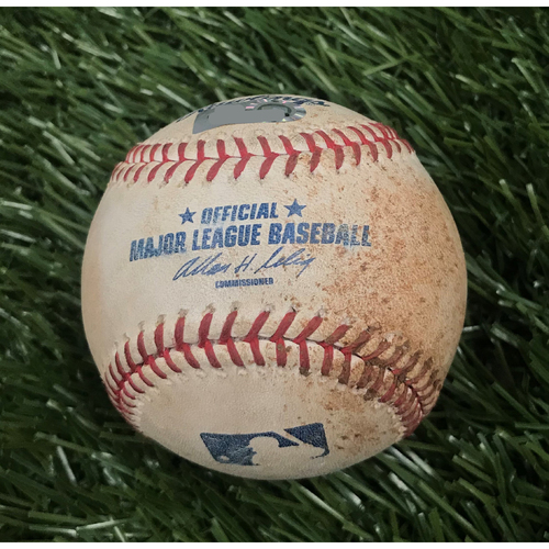 Photo of Game-Used Baseball from June 8, 2010 - Stephen Strasburg Debut - Pitcher - Matt Capps, Batter - Garrett Jones Foul