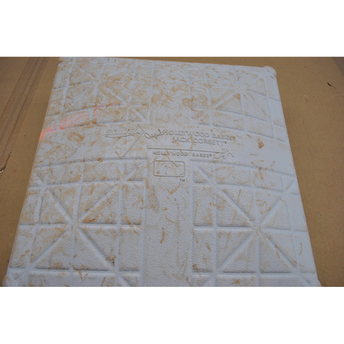 Photo of Game-Used 1st Base - 2020 World Series - Tampa Bay Rays vs. Los Angeles Dodgers - Game 1 - Used Innings 4-6