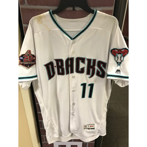 Photo of A.J. Pollock 2018 Game-Used Home Alternate Jersey: 9/18/18 vs. Cubs (Pollock went 0-3 for the game)