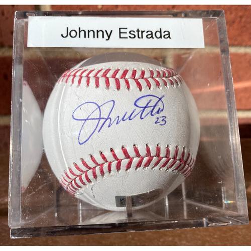 Photo of Johnny Estrada Autographed Baseball