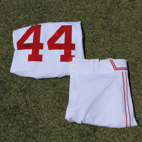 Photo of Game-Used & Autographed Monarchs Jersey & Game-Used Pants: Terry Bradshaw #44 (DET @ KC 5/23/21) - Size 48