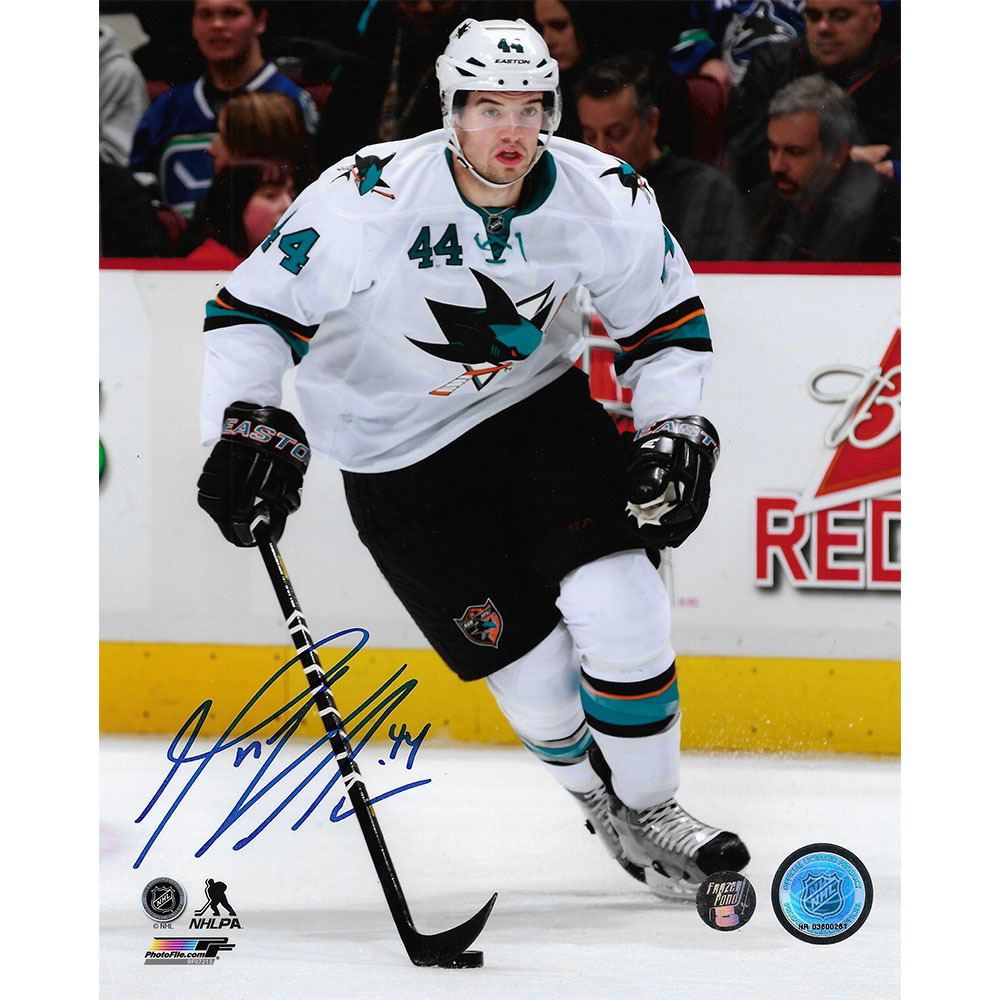 Marc-Edouard Vlasic Autographed San Jose Sharks 8X10 Photo