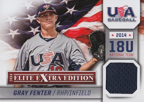 Photo of 2014 Elite Extra Edition USA Baseball 18U Game Jerseys #10 Gray Fenter