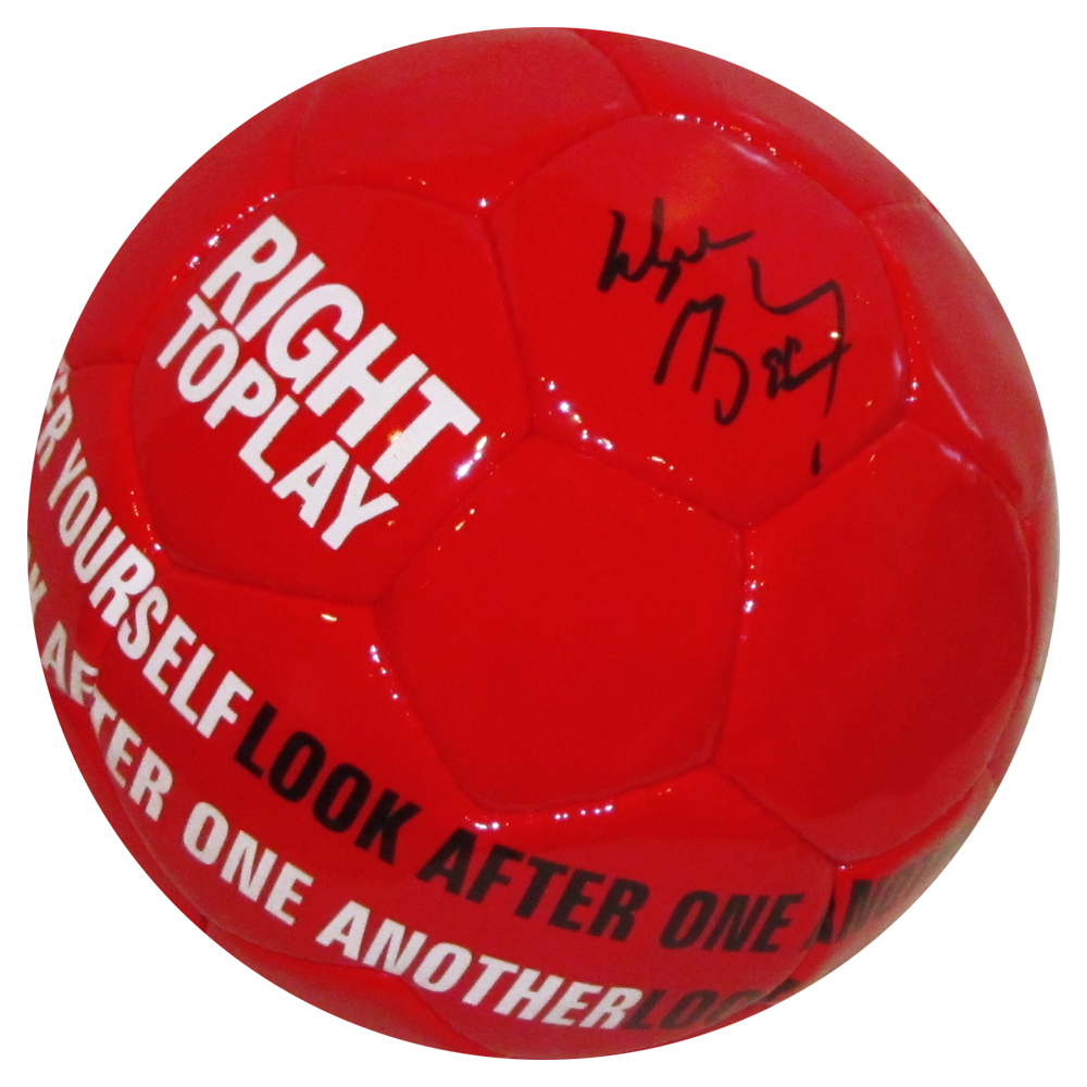 Wayne Gretzky Autographed Right To Play Soccer Ball