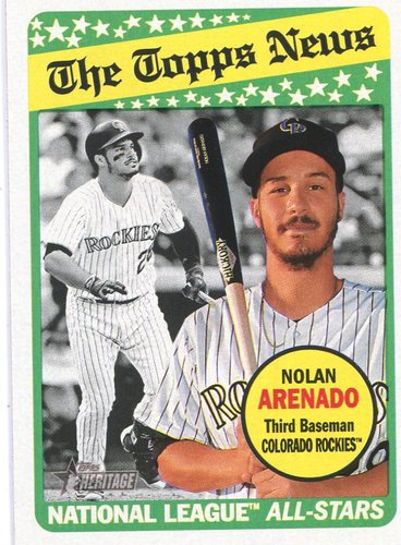 Photo of 2018 Topps Heritage #112 Nolan Arenado
