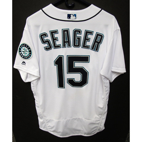 Photo of Seattle Mariners Kyle Seager Game Used 2018 White Jersey (5/29/18)