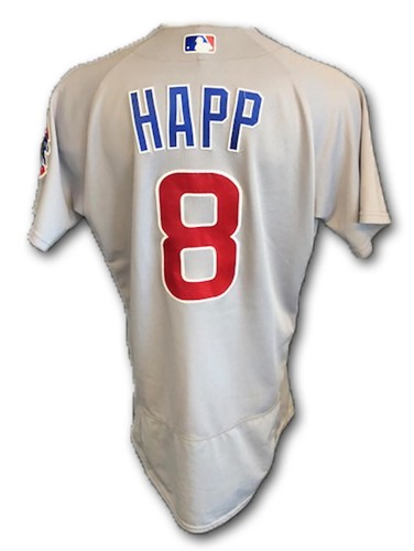 Photo of Ian Happ Game-Used Jersey -- Happ 1 for 3 -- Cubs at Cardinals -- 7/28/18