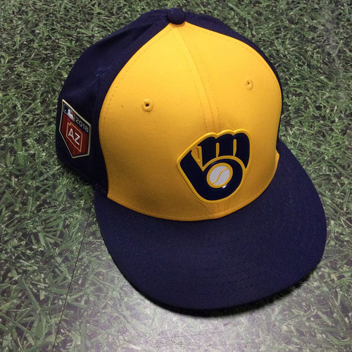 Christian Yelich 2018 Game-Used Spring Training Cap