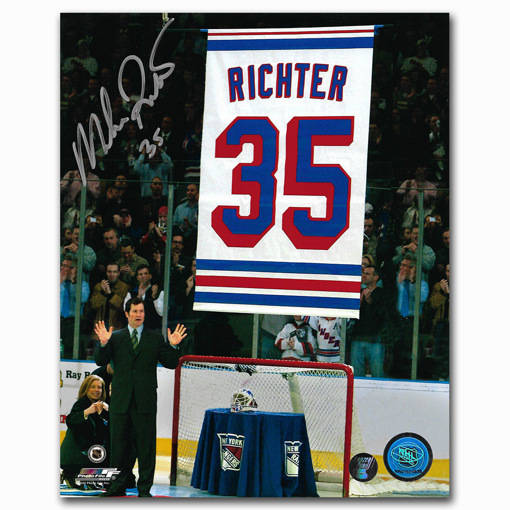 Mike Richter Autographed New York Rangers 8X10 Photo