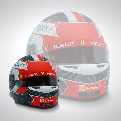 Photo of Charles Leclerc 2019 1:2 Scale Replica Helmet