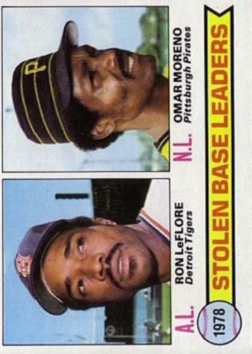 Photo of 1979 Topps #4 Stolen Base Leaders/Ron LeFlore/Omar Moreno