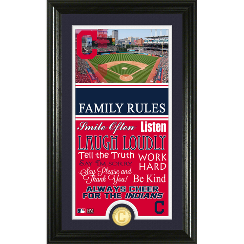 Photo of Cleveland Indians Personalized Family Rules Photo Mint