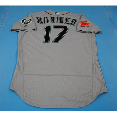 Photo of 2019 Japan Opening Series - Seattle Mariners Game-Used Jersey: Mitch Haniger - 3/21/19