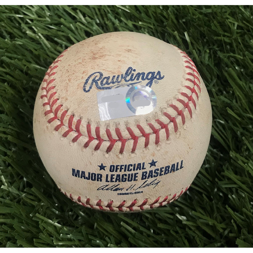 Game-Used Baseball from June 8, 2010 - Stephen Strasburg Debut - Strasburg Ground Out
