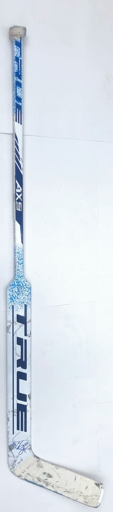 #37 Connor Hellebuyck Game Used Stick - Autographed - Winnipeg Jets