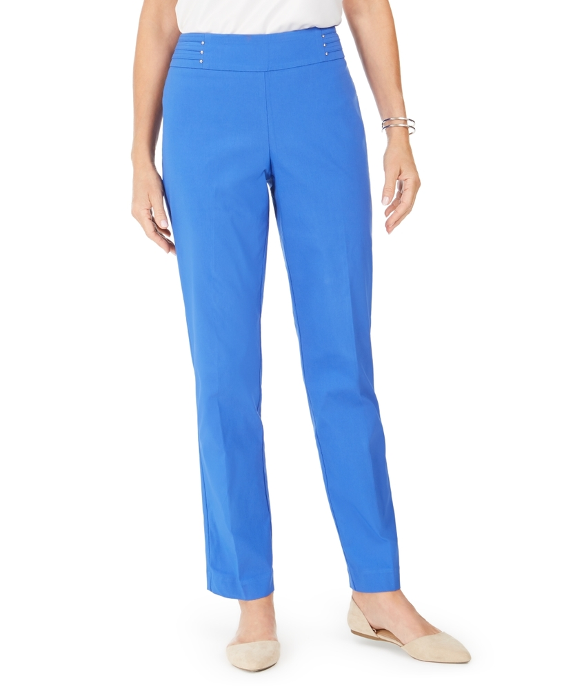 Photo of Jm Collection Petite Studded Pull-On Pants
