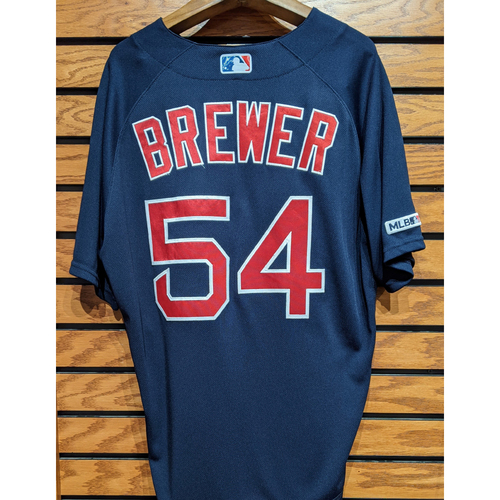 Photo of Colten Brewer #54 Game Used Navy Road Alternate Jersey