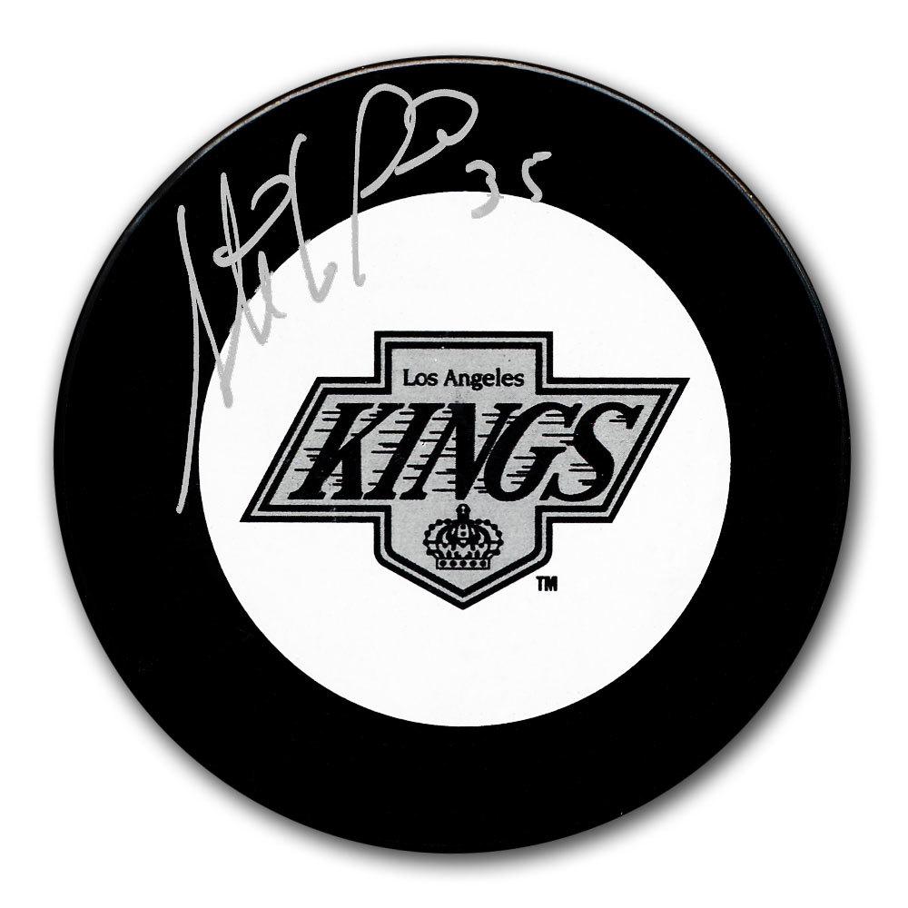 Stephane Fiset Los Angeles Kings Autographed Puck
