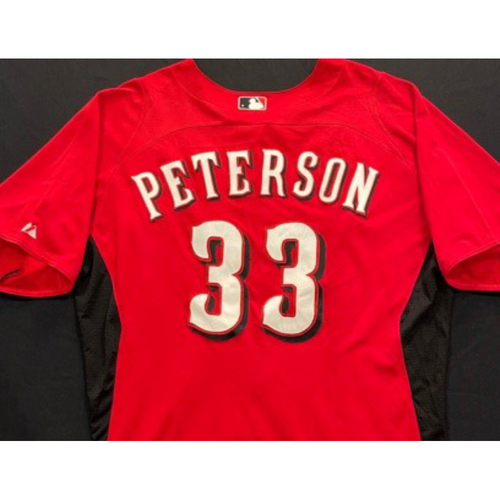 Photo of PETERSON -- Authentic Reds Jersey -- $1 Jersey Auction -- $5 Shipping -- Size 46 (Not MLB Authenticated)
