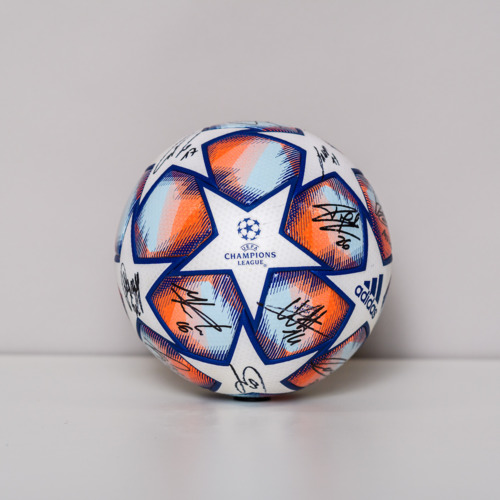 Photo of 20/21 Champions League Ball signed by the S.S. Lazio Team