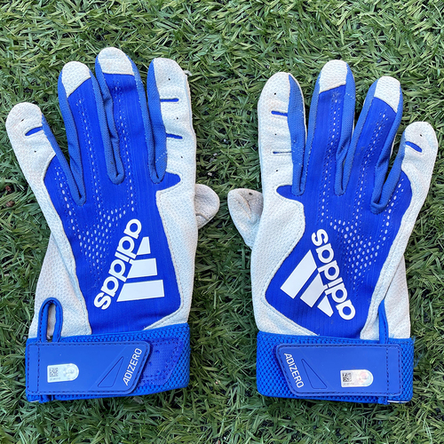 Photo of Team Issued Batting Gloves - Blue and White Adidas - 2020 Season