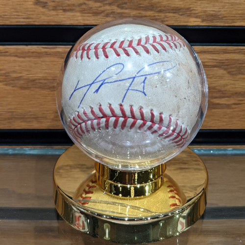 Photo of David Ortiz Autographed July 6, 2016 Game Used Baseball
