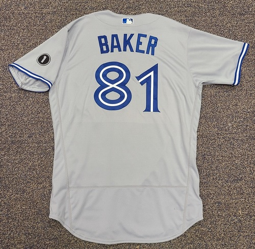 Photo of Authenticated Team Issued Jersey: #81 Bryan Baker (2020 Season). Set 1. Size 48.