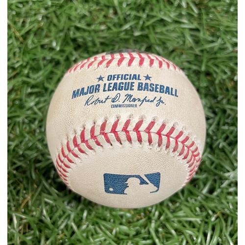Photo of Game Used Baseball: Alex Verdugo single off Charlie Morton - Top 2 - August 4, 2020 v BOS