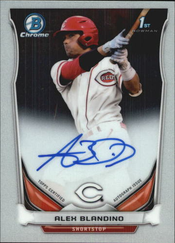 Photo of 2014 Bowman Chrome Draft Draft Pick Autographs #BCAAB Alex Blandino